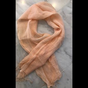 Max Studio linen wrap in soft peach